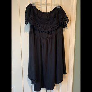 Torrid Size 1 Off-Shoulder Black Lace Dress